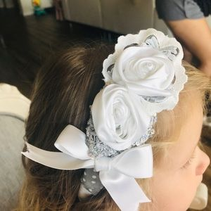 Other - Hand made head band white and grey